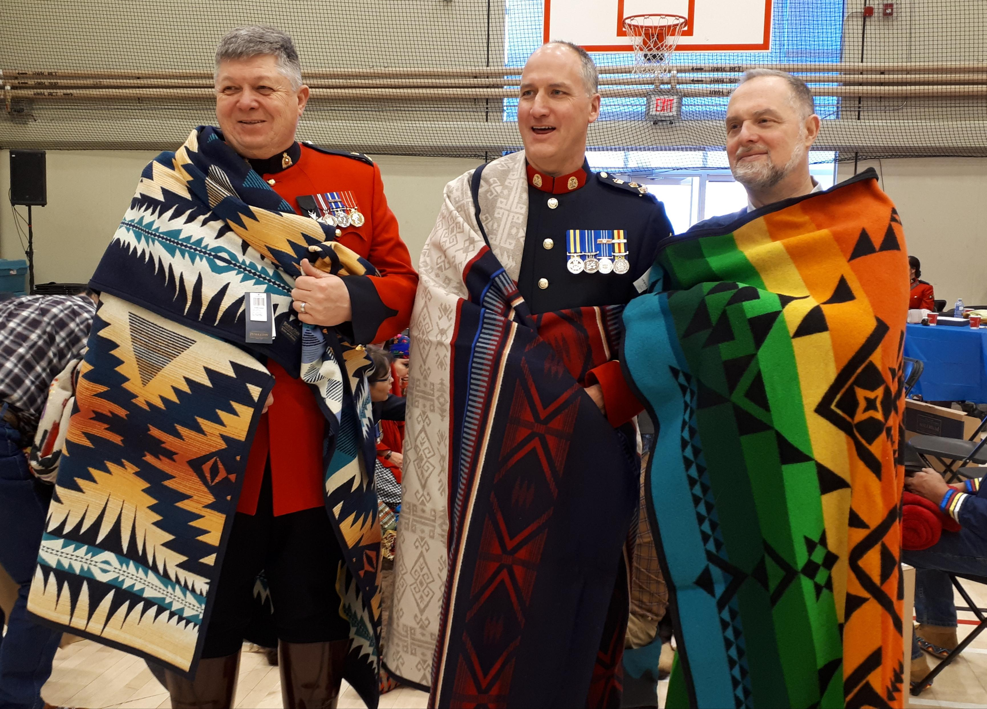 Earl Nini, Steve Barlow and Michael Gottheil with Pendleton Blankets.